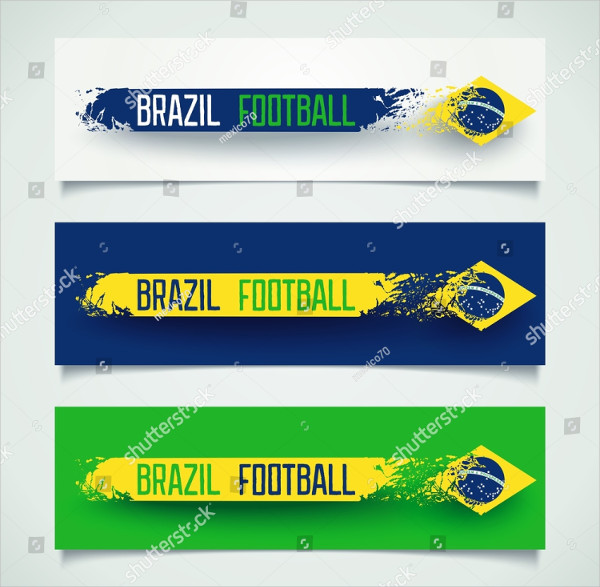 Abstract Sport Banner with Stripe