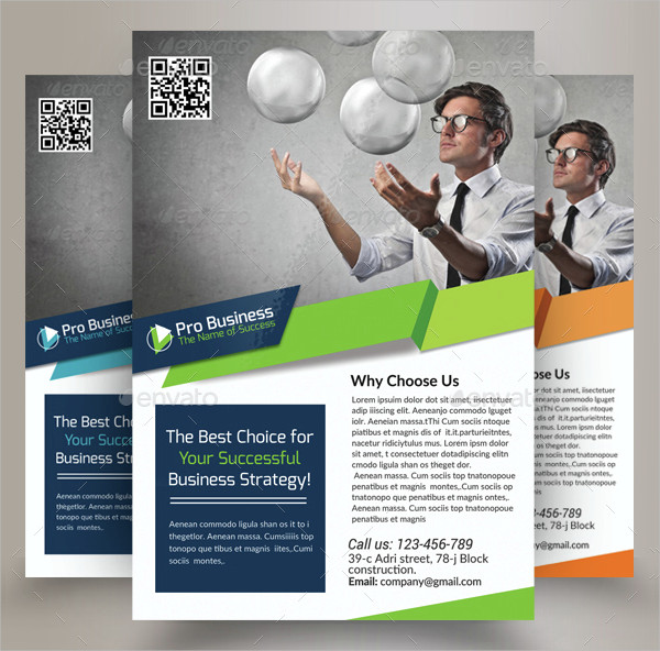 Unique Business Solutions Consultant Flyer Template