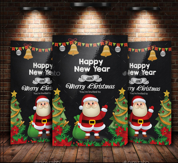 Chalkboard Christmas Flyer Template