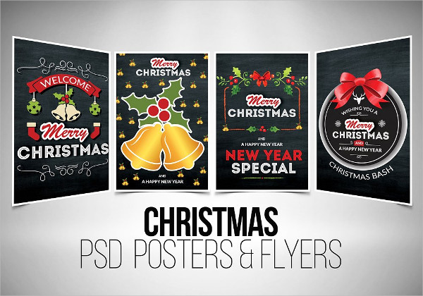 Christmas Chalkboard Flyer Templates Bundle