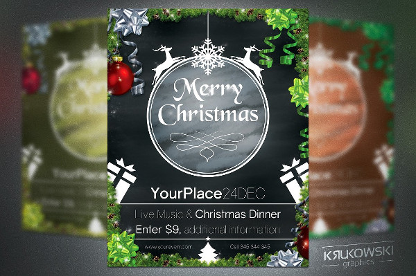 Christmas Chalkboard Flyer Template