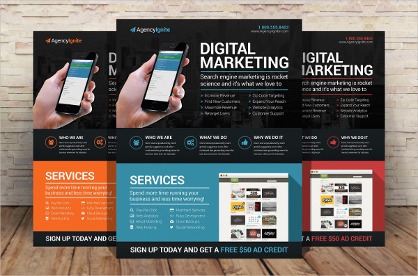 Clean Digital Marketing Flyer Template