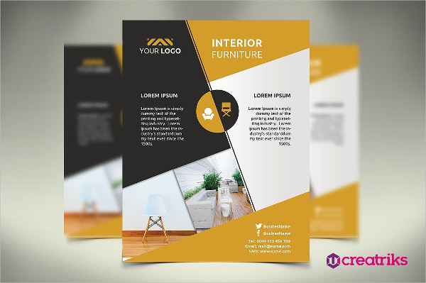 Elegant Interior Furniture Flyer Template