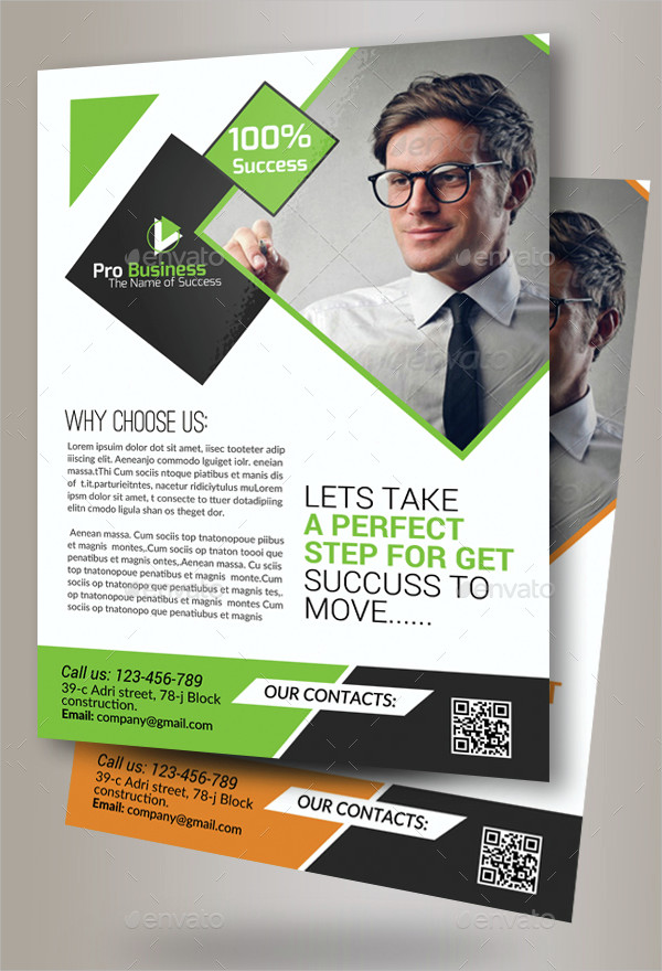 Clean Marketing Consulting Business Flyer Template