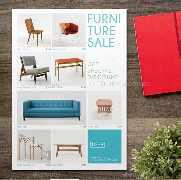 Modern Furniture Sale Flyer Template