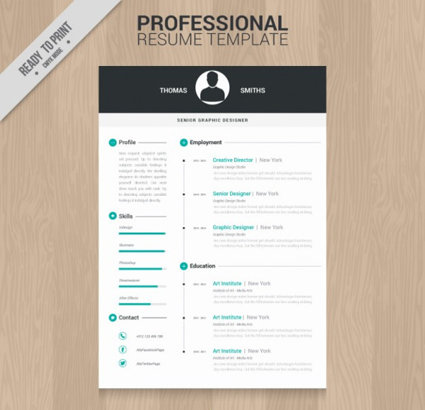 professional resume template free vector - Professional Resume Templates Free