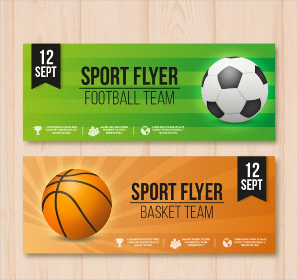 Realistic Sports Banner Templates Free Download