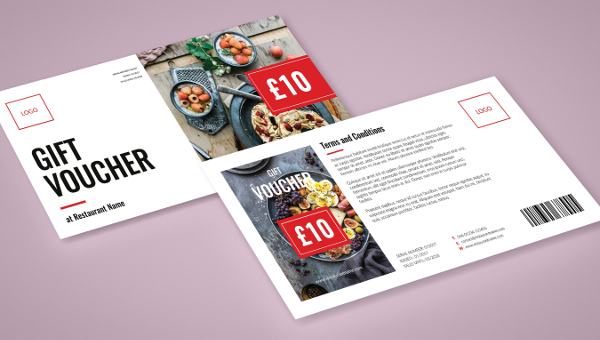 Restaurant Gift Voucher Template