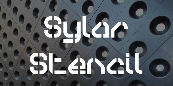 Sylar Stencil Font Free Download