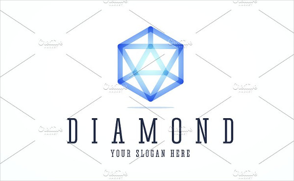 Clean Diamond Logo Template