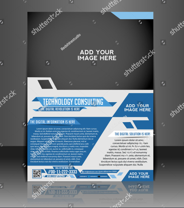 Technology Business Consulting Flyer Template