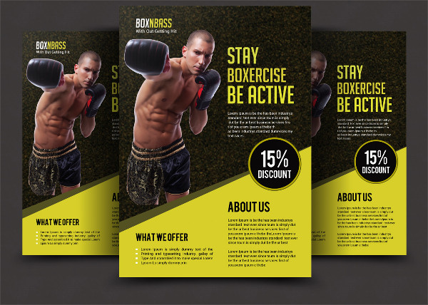 Awesome Boxing Club Flyer Template