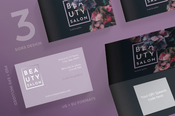 PSD Beauty Salon Business Card Design