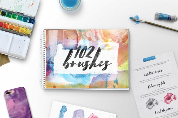 102 Real Watercolor Brushes For Photoshop