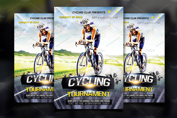 Attractive Cycling Flyer Template