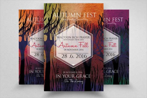 Autumn Fall Fest Party Flyer Template