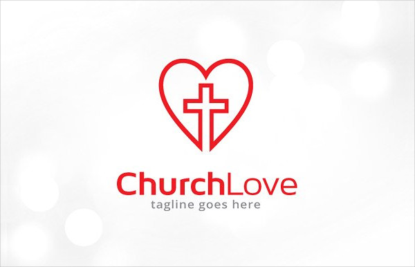 Best Church Love Logo Template