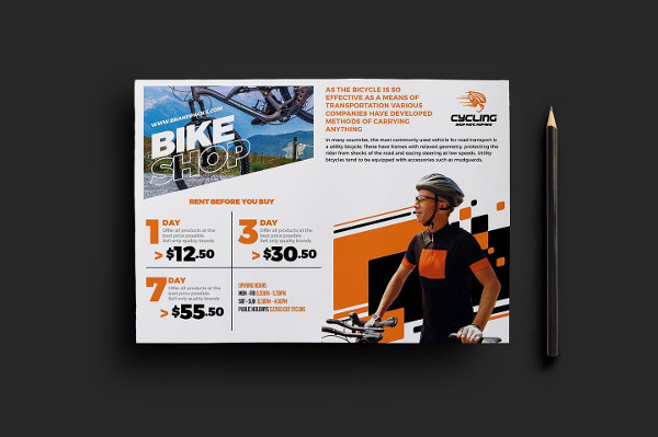 Best Cycling Shop Flyer Template