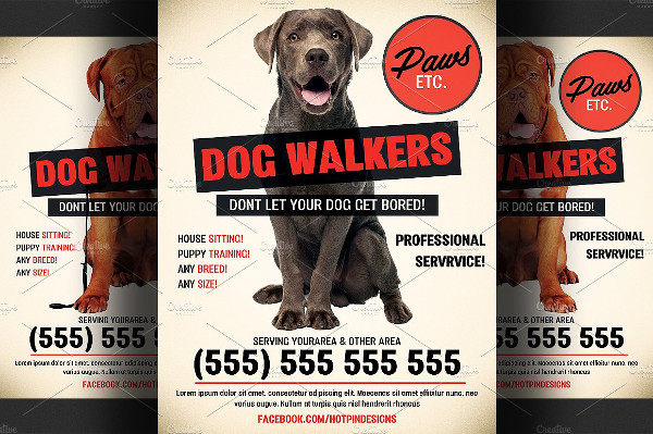 Best Dog Walkers Promotional Flyer Template