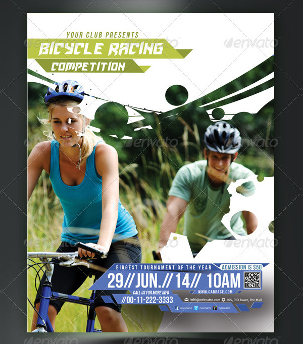 Bicycle Racing Competitions Flyer or Poster Template
