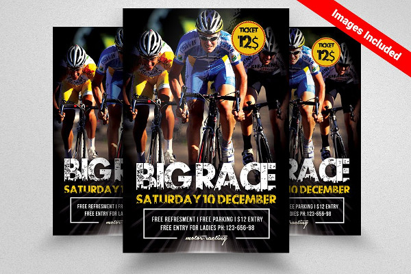 Bicycle Racing Event Flyer Templates