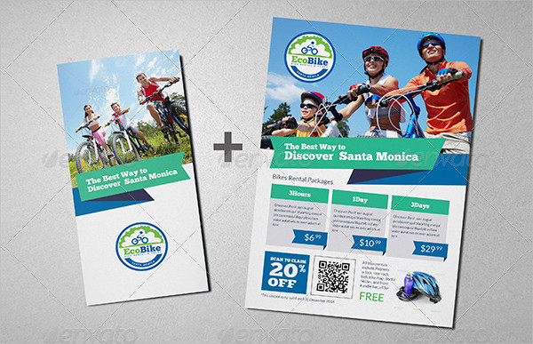 Bicycle Rental Brochure & Flyer Template