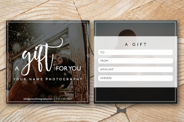 Attractive Gift Certificate Photography Template
