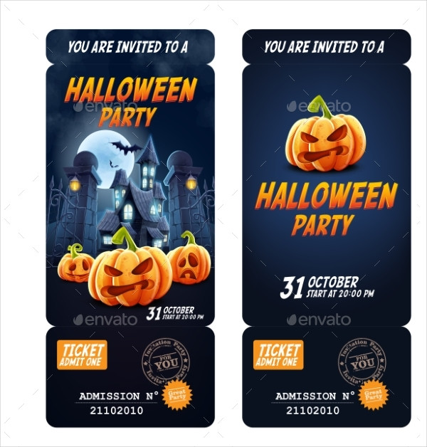 Clean Halloween Celebration Flyer Template