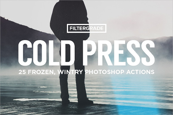 Cold Press Winter Photoshop Actions