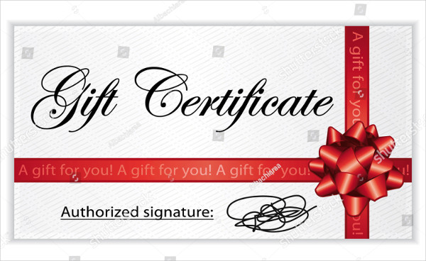 Shiny Gift Certificate Design