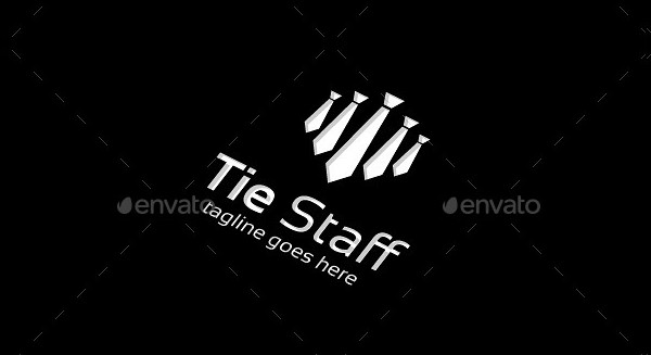 Tie Staff & People Recruitment Logo Template