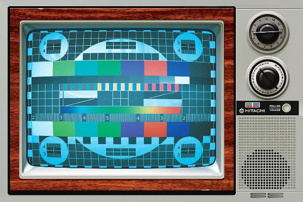 Cool Painted Old Television Mockup