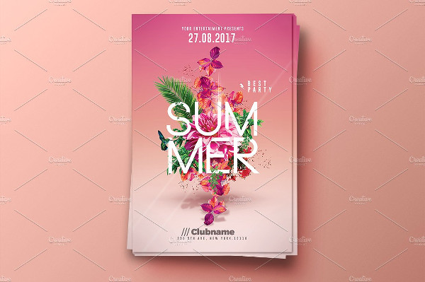 Creative Summer Party Invitation Flyers