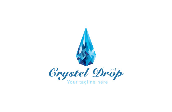Crystal Drop Diamond Stock Logo Template