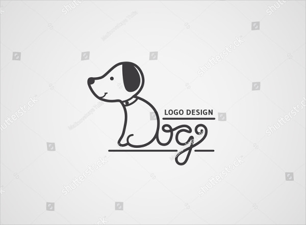 Cute Puppy Logo Design Template
