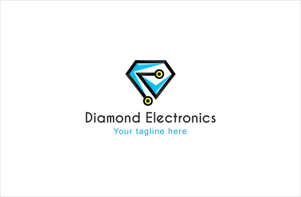 Diamond Electronics Abstract Logo Template
