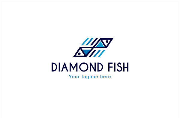 Diamond Fish Logo Template