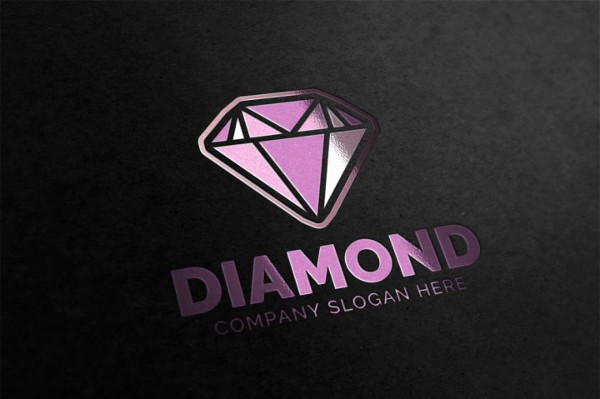 Diamond Shaped Logo Template
