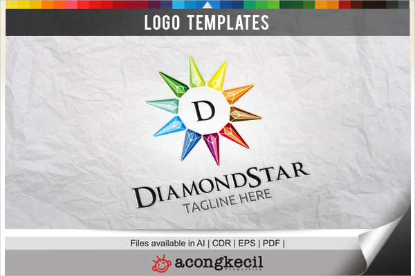 Diamond Star Logo Template