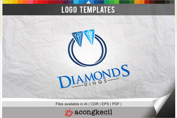 Diamonds Ring Logo Template