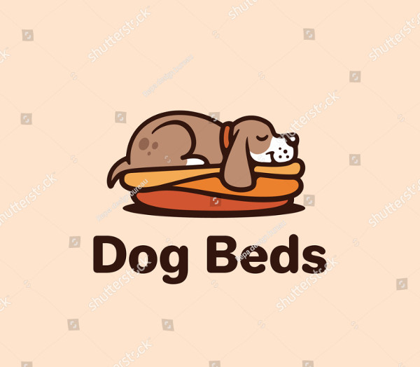 Dog Beds Logo Design Template