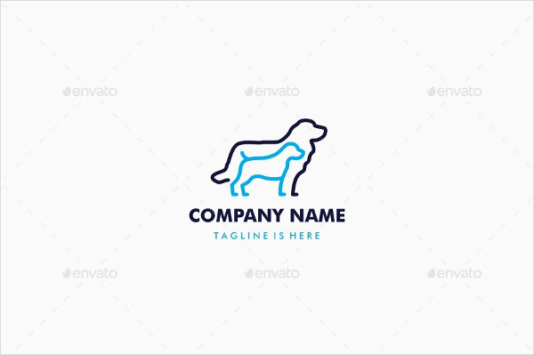 Dog Outline Logo Template