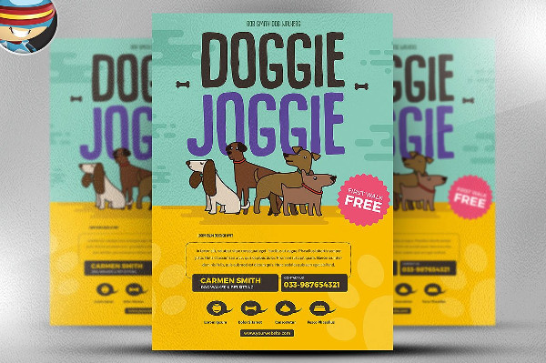 Dog Walkers Advertising Flyer Template
