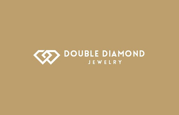 Double Diamond Jewelry Logo Template