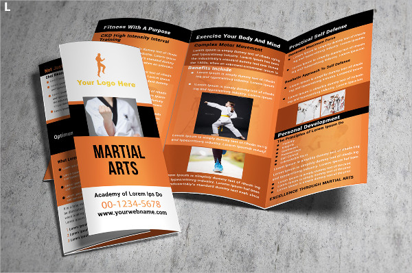 Fitness Training Trifold Brochure Template