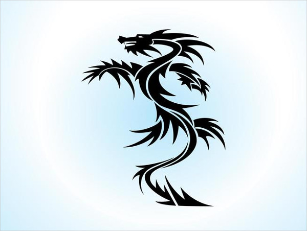 Free Dragon Vector Tattoo Design