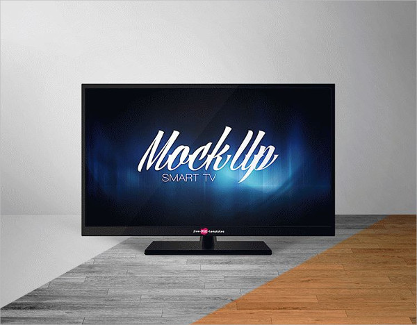 Free Smart TV Mock-Up in PSD