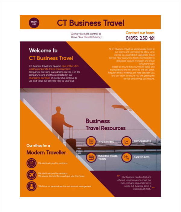 Free Travel Business Consulting Flyer Template