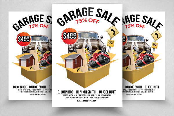 Garage Sale Flyer Print Templates