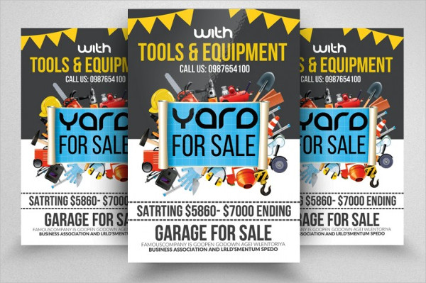 Garage Sale PSD Flyer Templates